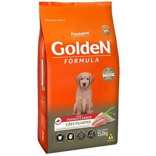 Ração Golden Fórmula Cães Filhotes Frango & Arroz 15kg