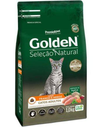 Ração Golden Seleção Natural Gatos Adultos Frango & Arroz 1kg