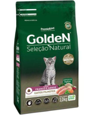 Ração Golden Seleção Natural Gatos Filhotes Frango & Arroz 1kg