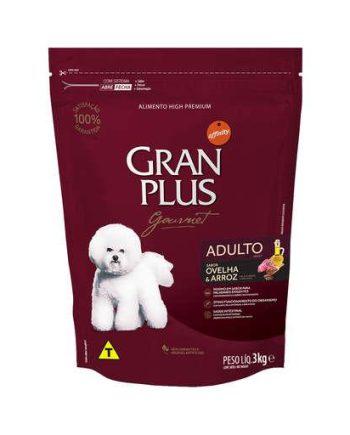 Ração Gran Plus Gourmet Cães Adultos Ovelha e Arroz 3Kg