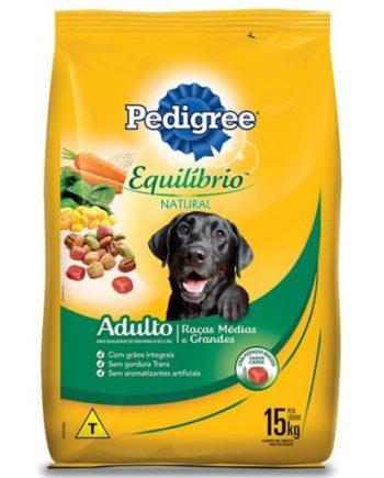 Ração Pedigree Equilíbrio Natural Cães Adultos Raças Médias e Grandes 15kg