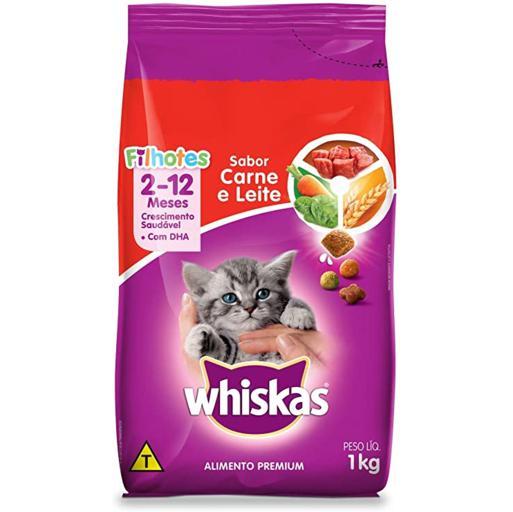 Ração Whiskas Filhote Carne & Leite 1kg