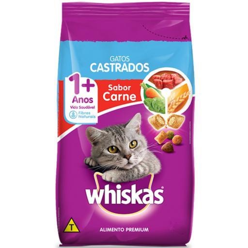 Ração Whiskas Adulto Castrado Carne 1kg