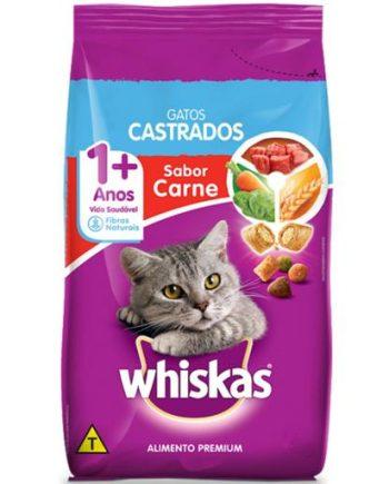 Ração Whiskas Adulto Castrado Carne 3kg