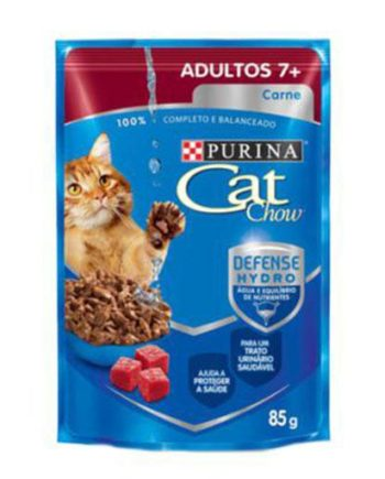 CAT CHOW SACHE ADULTOS 7+ CARNE 85G