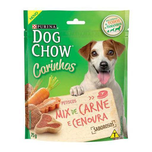 DOG CHOW CARINHOS MIX CARNE/CENOURA 75GR