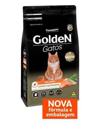 RAÇÃO GOLDEN GATOS CASTRADOS SALMÃO 6KG