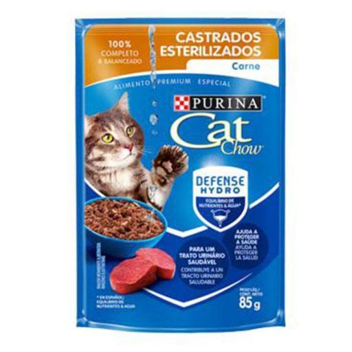 CAT CHOW SACHE CASTRADOS CARNE 85G