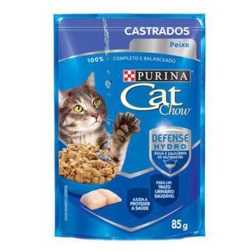 CAT CHOW SACHE CASTRADOS PEIXE 85G