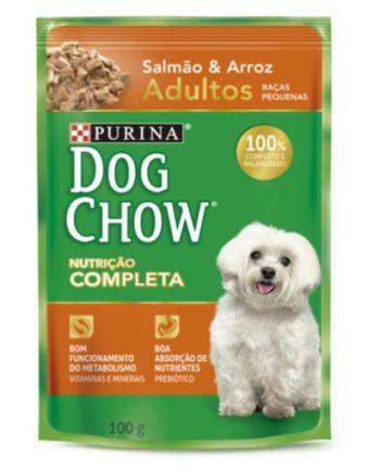 DOG CHOW SACHE AD RAC PEQ SALMAO/ARROZ 100G