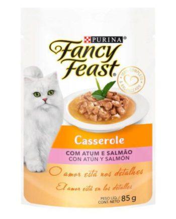 FANCY FEAST SACHE CASSEROLE ATUM E SALMÃO 85GR