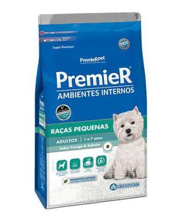 Ração Premier Cães adultos Ambiente Interno Frango e Salmão 7,5kg