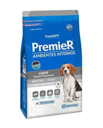 Ração Premier Cães Adultos Ambiente Interno Frango e Salmão Light 12kg