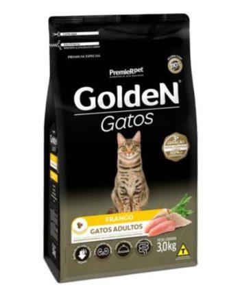 RAÇÃO GOLDEN GATOS ADULTOS FRANGO 3KG