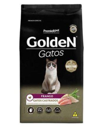 RAÇÃO GOLDEN GATOS CASTRADOS FRANGO 1KG