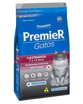 Ração Premier Gatos Castrados 7-12 Anos Ambiente Interno Frango 500grs