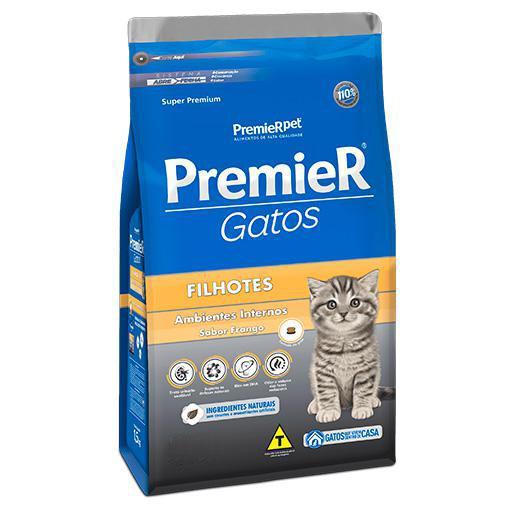 Ração Premier Gatos Filhotes Ambiente Interno Frango 500grs