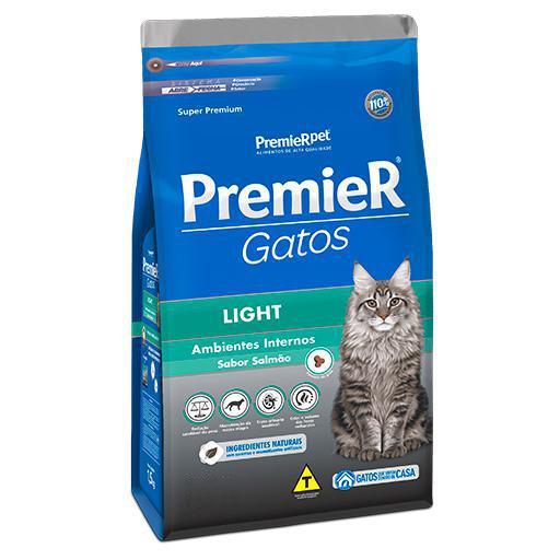 Ração Premier Gatos Adultos Ambiente Interno Salmão Light 500grs