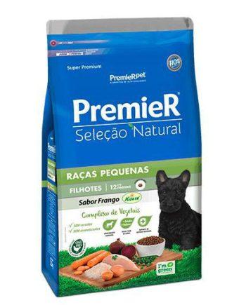Ração Premier Seleção Natural Cães Filhotes Raças Pequenas Frango 1kg