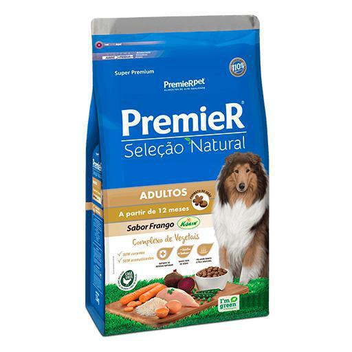 Ração Premier Seleção Natural Cães Adultos Frango 12kg