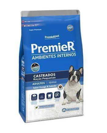 Ração Premier Cães Adultos Ambiente Interno Castrados 1,0kg