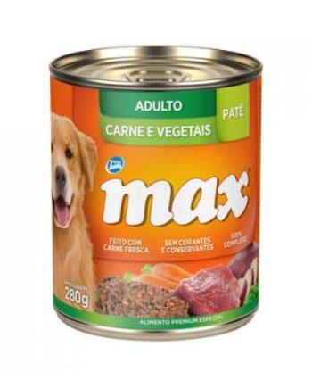 MAX GATOS ADULTOS CARNE E VEGETAIS LATA 280GR