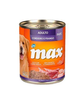 MAX GATOS ADULTOS CORDEIRO E FRANGO LATA 280GR