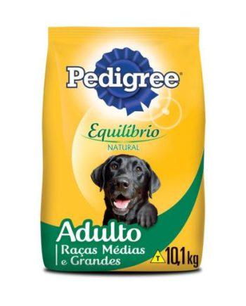 Ração Pedigree Equilíbrio Natural Cães Adultos Raças Médias e Grandes 10,1kg