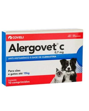 ALERGOVET C 0,7MG C/10 COMP.