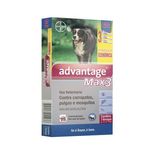 ADVANTAGE MAX3 4,0ML ACIMA DE 25KG EMB ECONOMICA C/3 (Promoção)