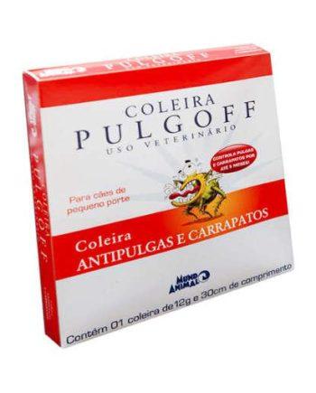COLEIRA ANTIPULGAS PULGOFF PEQ 30CM