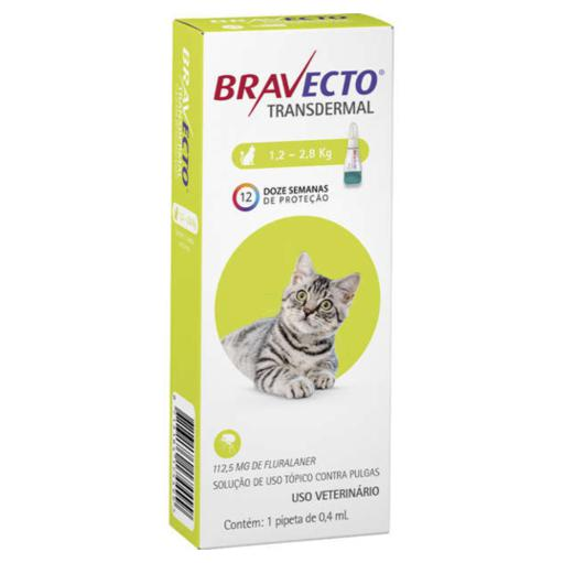 BRAVECTO GATOS 1,2 - 2,8KG