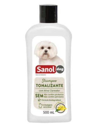 SHAMPOO TONALIZANTE PELOS CLAROS SANOL DOG 500ML