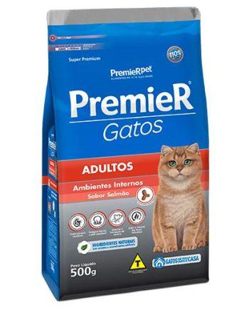 Ração Premier Gatos Adultos Ambiente Interno Salmão 500grs