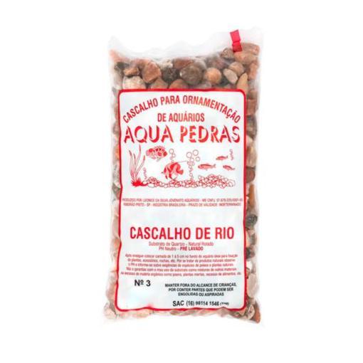 CASCALHO P/ORNAMENTACAO CASC DE RIO 1KG AQUA PEDR